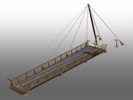 Advance Steel Projet: Passerelle Jenson Button